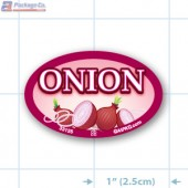 Onion Full Color Oval Merchandising Labels - Copyright - A1PKG.com SKU -  33125