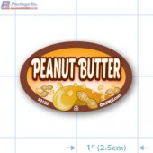Peanut Butter Full Color Oval Merchandising Labels - Copyright - A1PKG.com SKU -  33126