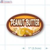 Peanut Butter Full Color Oval Merchandising Labels - Copyright - A1PKG.com SKU -  33126
