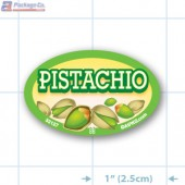 Pistachio Full Color Oval Merchandising Labels - Copyright - A1PKG.com SKU -  33127