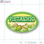 Pistachio Full Color Oval Merchandising Labels - Copyright - A1PKG.com SKU -  33127