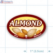 Almond Full Color Oval Merchandising Labels - Copyright - A1PKG.com SKU -  33130