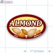 Almond Full Color Oval Merchandising Labels - Copyright - A1PKG.com SKU -  33130