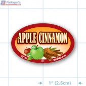 Apple Cinnamon Full Color Oval Merchandising Labels - Copyright - A1PKG.com SKU -  33131