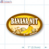 Banana Nut Full Color Oval Merchandising Labels - Copyright - A1PKG.com SKU -  33132