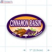 Cinnamon Raisin Full Color Oval Merchandising Labels - Copyright - A1PKG.com SKU -  33133