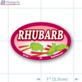 Rhubarb Full Color Oval Merchandising Labels - Copyright - A1PKG.com SKU -  33135