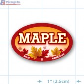 Maple Full Color Oval Merchandising Labels - Copyright - A1PKG.com SKU -  33139