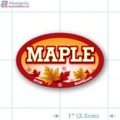 Maple Full Color Oval Merchandising Labels - Copyright - A1PKG.com SKU -  33139