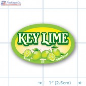 Key Lime Full Color Oval Merchandising Labels - Copyright - A1PKG.com SKU -  33143
