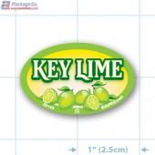 Key Lime Full Color Oval Merchandising Labels - Copyright - A1PKG.com SKU -  33143