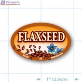 Flaxseed Full Color Oval Merchandising Labels - Copyright - A1PKG.com SKU -  33145