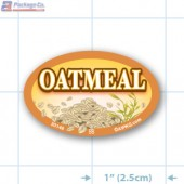 Oatmeal Full Color Oval Merchandising Labels - Copyright - A1PKG.com SKU -  33146
