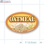Oatmeal Full Color Oval Merchandising Labels - Copyright - A1PKG.com SKU -  33146