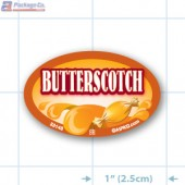 Butterscotch Full Color Oval Merchandising Labels - Copyright - A1PKG.com SKU -  33148