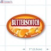 Butterscotch Full Color Oval Merchandising Labels - Copyright - A1PKG.com SKU -  33148
