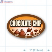 Chocolate Chip Full Color Oval Merchandising Labels - Copyright - A1PKG.com SKU -  33149