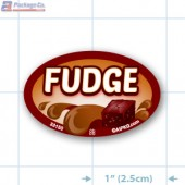 Fudge Full Color Oval Merchandising Labels - Copyright - A1PKG.com SKU -  33150