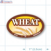 Wheat Full Color Oval Merchandising Labels - Copyright - A1PKG.com SKU -  33151