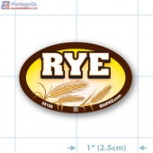 Rye Full Color Oval Merchandising Labels - Copyright - A1PKG.com SKU -  33155