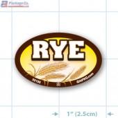 Rye Full Color Oval Merchandising Labels - Copyright - A1PKG.com SKU -  33155