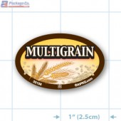 Multigrain Full Color Oval Merchandising Labels - Copyright - A1PKG.com SKU -  33156
