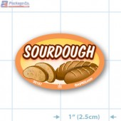 Sourdough Full Color Oval Merchandising Labels - Copyright - A1PKG.com SKU -  33157