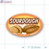 Sourdough Full Color Oval Merchandising Labels - Copyright - A1PKG.com SKU -  33157