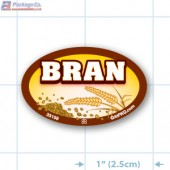 Bran Full Color Oval Merchandising Labels - Copyright - A1PKG.com SKU -  33158