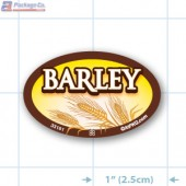 Barley Full Color Oval Merchandising Labels - Copyright - A1PKG.com SKU -  33161