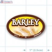 Barley Full Color Oval Merchandising Labels - Copyright - A1PKG.com SKU -  33161