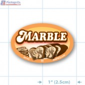 Marble Full Color Oval Merchandising Labels - Copyright - A1PKG.com SKU -  33162