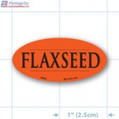 Flaxseed Fluorescent Red Oval Merchandising Label Copyright A1PKG.com - 33202