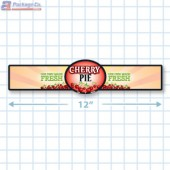 Cherry Pie Full Color Strap Merchandising Label Copyright A1PKG.com - 35004