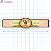 Pumpkin Pie Full Color Strap Merchandising Label Copyright A1PKG.com - 35005