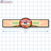 Strawberry Rhubarb Pie Full Color Strap Merchandising Label Copyright A1PKG.com - 35006