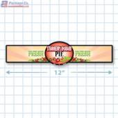 Strawberry Rhubarb Pie Full Color Strap Merchandising Label Copyright A1PKG.com - 35006