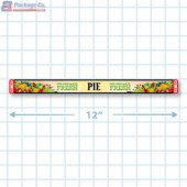"""""""Pie"""" Our Own Made Fresh Safe-T-Seal Full Color Merchandising Label Copyright A1PKG.com - 35007"""