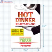 Foodland- Hot Dinner For 4 Ready To Go Signicade Merchandising Graphics copyright A1pkg.com SKU 66502