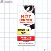 Foodland- Hot Dinner Ready To Go Merchandising  Brochure/ Menu Copyright A1Pkg.com SKU 66507