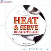 Heat and Serve Ready to Go Full Color Circle Merchandising Labels - Copyright - A1PKG.com SKU # 66512