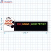 Hot Dinner Ready To Go Merchandising Large Case Divider - Copyright - A1PKG.com - 66514
