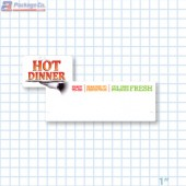 Hot Dinner Ready To Go Merchandising Small Case Divider - Copyright - A1PKG.com - 66515