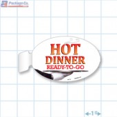 Hot Dinner Ready To Go Merchandising Oval Aisle Talker - Copyright - A1PKG.com - 66516