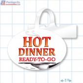 Hot Dinner Ready To Go Merchandising Oval Shelf Dangler - Copyright - A1PKG.com - 66517