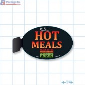 Hot Meals Ready To Go Merchandising Oval Aisle Talker - Copyright - A1PKG.com - 66520