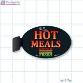 Hot Meals Ready To Go Merchandising Oval Aisle Talker - Copyright - A1PKG.com - 66520