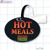 Hot Meals Ready To Go Merchandising Oval Shelf Dangler - Copyright - A1PKG.com - 66521