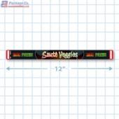 Saute Veggies Safe-T-Seal Full Color Merchandising Label Copyright A1PKG.com - 72000