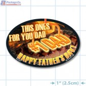 Father's Day Full Color Oval Merchandising Label Copyright A1PKG.com - 90105